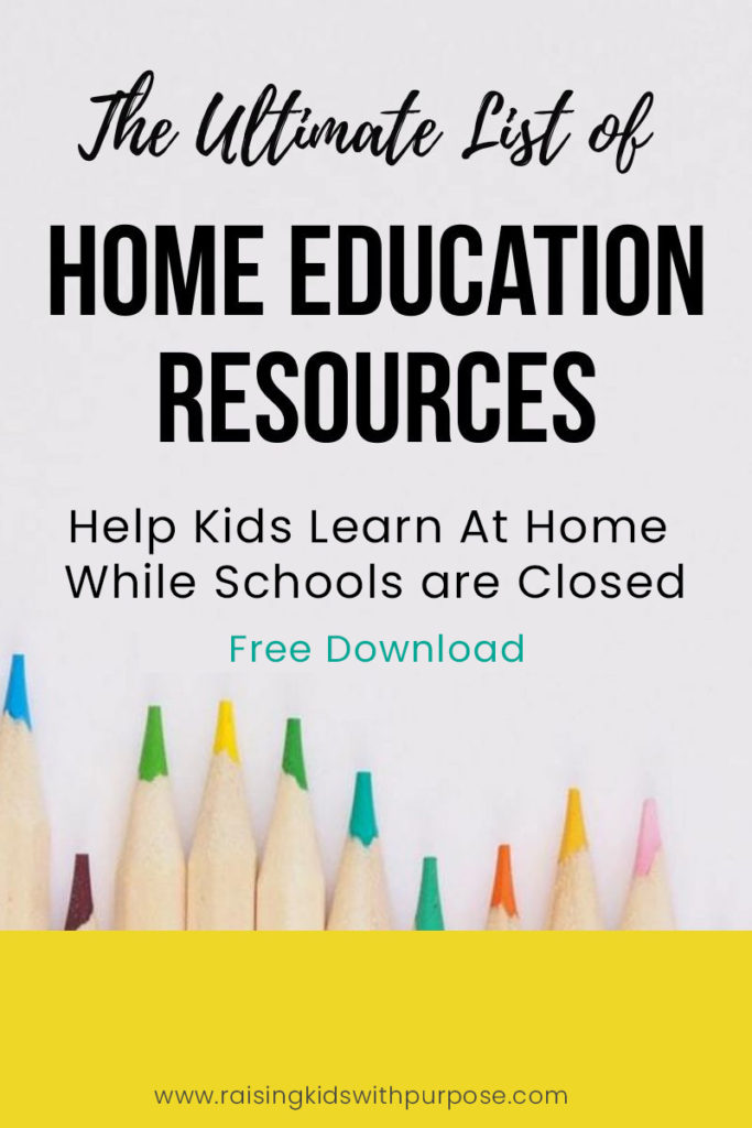 The Ultimate List Of Over 225 Home Education Resources Raising Kids With Purpose